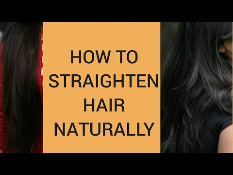 How to straighten hair naturally at home with Aloevera// Aloevera trick/Make hair straightening gel.