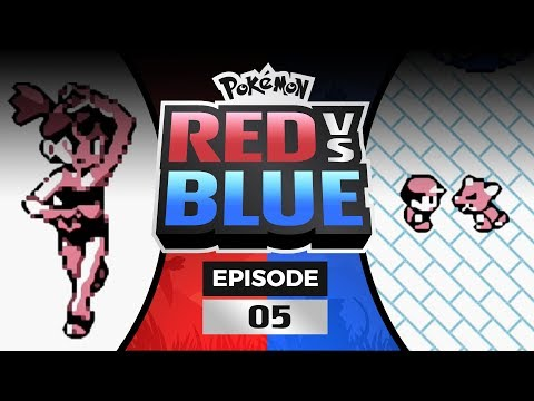 Pokemon Red and Blue Versus - EP05   Race to Misty's Gym!