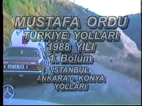 1988 Yili Istanbul Ankara Konya Sila izin Yolu Türkiye Yollari
