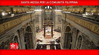 Santa Messa per la Comunità Filippina 14 marzo 2021 Papa Francesco