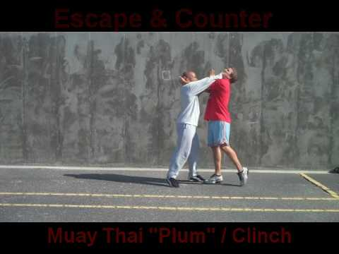 Muay Thai Clinch Escape from Plum by Roadwork Training | RoadworkTraining.com Image 1