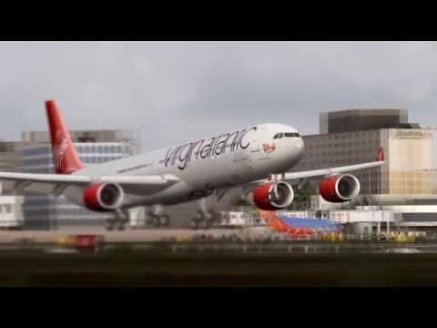 FSX - Virgin Atlantic Airbus A340 at Los Angeles International