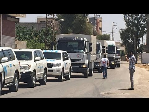 First Aid-Convoy To Reach This Syrian City Since 2012 Didn't Have Food