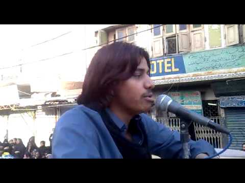 Zamin Ali Recitting Afsos Nabi Zadiyon Ka In Hyderabad  Last Kafila 2012 video