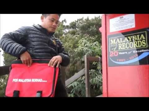 First Post Box on Highest Altitude at Mount Kinabalu - The Malaysia Book of Records