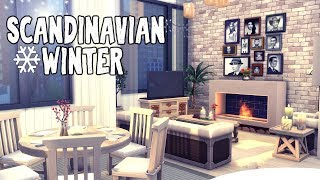Scandinavian Winter || The Sims 4 Apartment Renovation: Speed Build