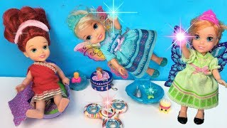 Annia and Elsia Toddlers Toy Fairies! Fidget Spinners Barbie Vacation Chelsea Tiana Ariel Cinderella