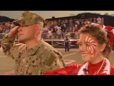 Father Surprises Cheerleader