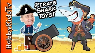 Giant PIRATE SHARK Egg in the Pool! We Review Imaginext Toys with HobbyKids
