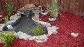 Decoracion de jardines con lajas mis jardines - Como decorar un estanque ...