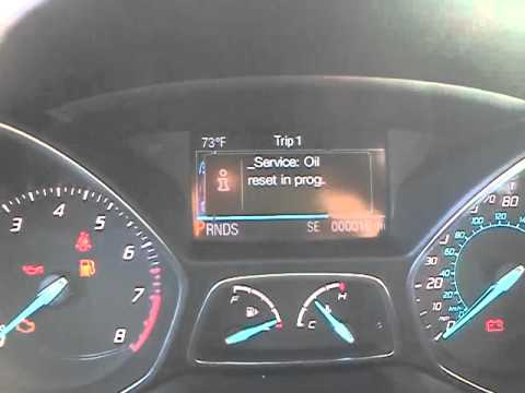 2013 ford escape oil life reset