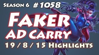 SKT T1 Faker - Vayne vs Ezreal - NA LOL SoloQ Highlights