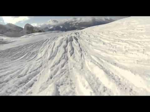 Круто покатался на лыжах