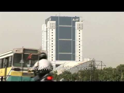 DLF Square Tower with DLF Gateway Tower in background, Gurgaon