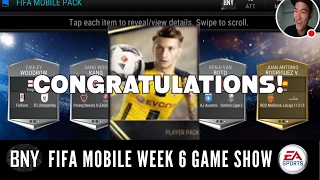 FIFA MOBILE PLAYERS PACK & ALL PRO PACK BEING WON FROM WEEK 6 GAME SHOW! *EA SPONSORED*