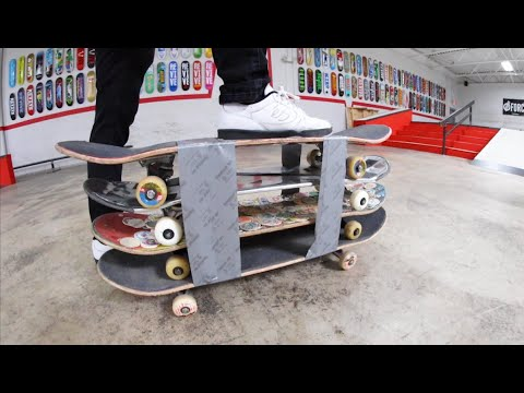 You Must Skate The Quadruple-Decker Skateboard! / Warehouse Wednesday