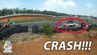 CRASH!!! 125cc TU Road Race Sirkuit Mijen Semarang Porprov Jateng 2018