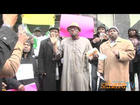 Goodluck Jonathan makes an appearance at Occupy Nigeria