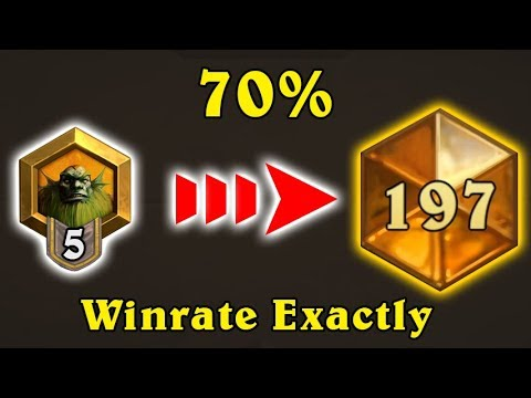 [Hearthstone] 70% Winrate Exactly (Rank 5 to Legend)