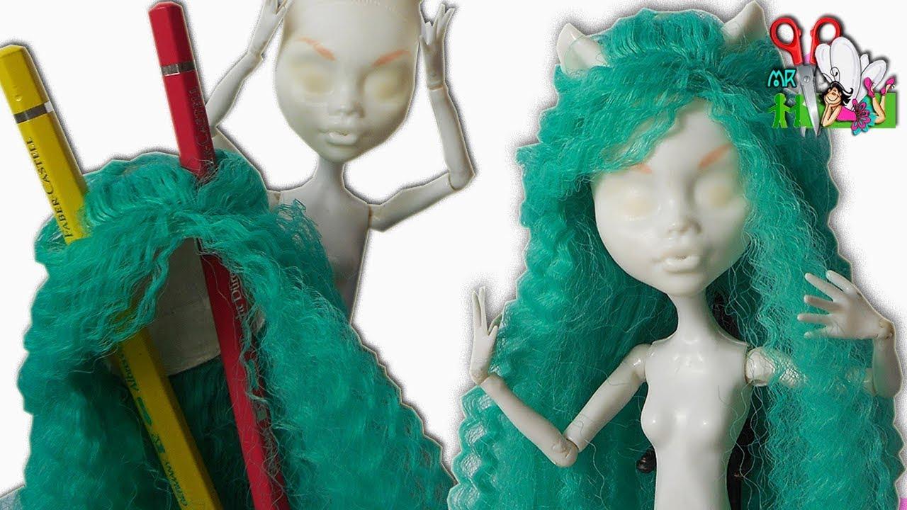 Как сделать парик для куклы монстер хай мальчика