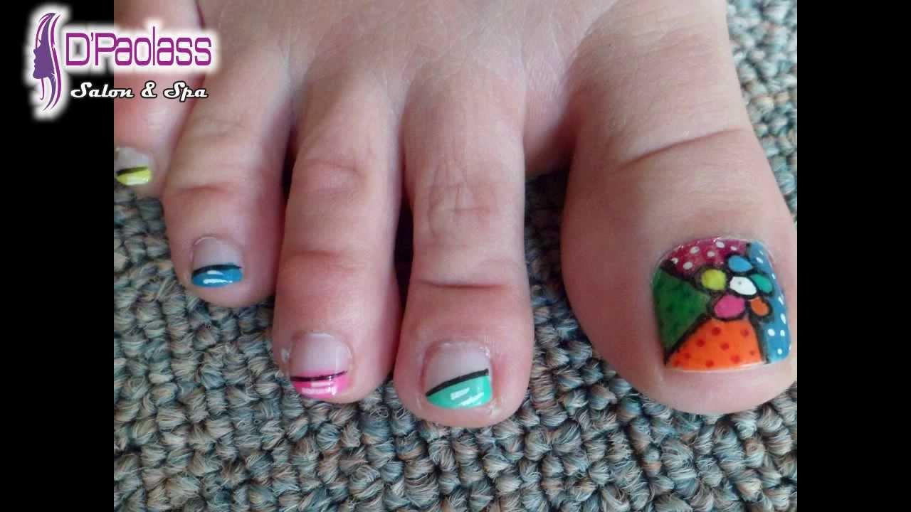 modelos de uñas decoradas sencillas para pies