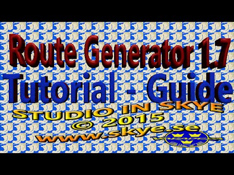 Route Generator Svensk Tutorial Guide