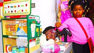 Toys And Fun Sisters Pretend Play Shopping at Children SuperMarket | Funny Video For Kids
