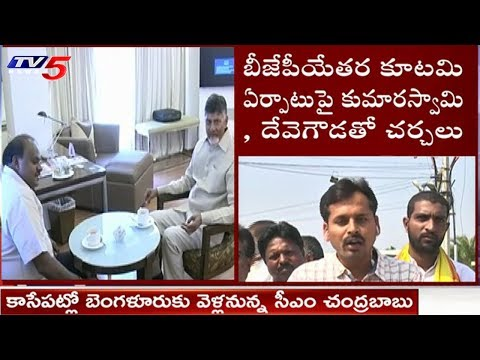 AP CM Chandrababu To Visit Bangalore Along With Ministers | TV5 News