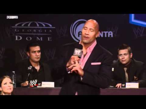WWE WrestleMania XXVII Press Conference:  The Rock