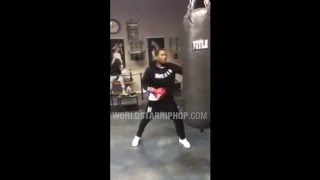 Meek Mill Shows Off His Boxing Skills On A Heavy Bag
