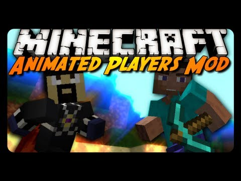 Minecraft Mod Review: Animated Players Mod! & Skin Improvements!