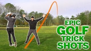 EPIC Golf Trick Shots | SweetSpotSquad