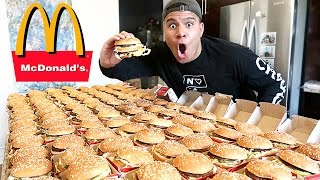 INSANE 100+ MCDONALD'S BIG MAC CHALLENGE (IMPOSSIBLE) *100,000 CALORIES*
