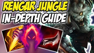 GUIDE ON HOW TO PLAY RENGAR JUNGLE IN SEASON 8! CRAZY ONE SHOT POTENTIAL  - League of Legends