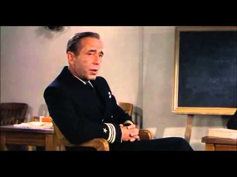Caine Mutiny - Bogart as Queeg - trial part 1