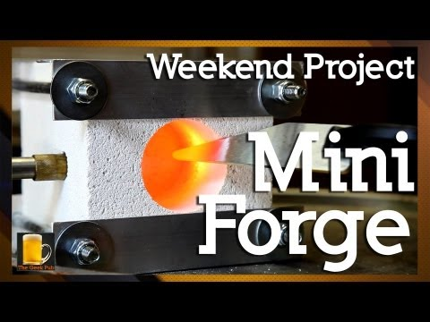 how to make a homemade mini forge how to save money and. Black Bedroom Furniture Sets. Home Design Ideas
