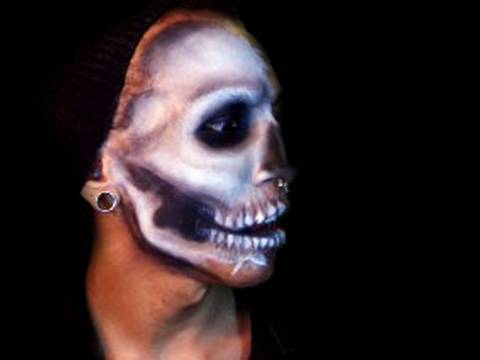Skull Mask Makeup Tutorial Video