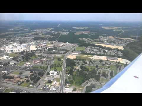 Take Off US Airways Flight from Greenville, NC to Charlotte, NC (PGV-CLT) - June 9 2012