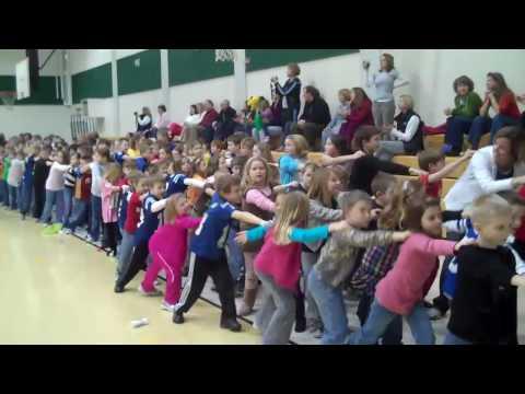 Good Shepherd School in a flash mob dance