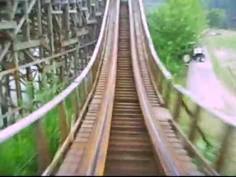"My Onride from Robin Hood in Walibi World (NL) in summer 2006. Capacity: 815 riders per hour Length: 3395' 8"" Height: 105' Inversions: 0 Speed: 49.7 mph Dura..."