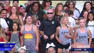 Moses Lake community help police officers film lip-sync challenge.
