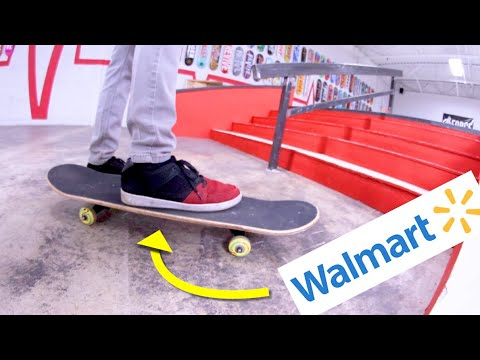 Don't Break The Walmart Skateboard On The Stairs!