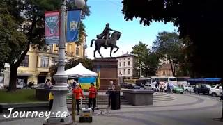 Dancing and Singing in Lviv, Ukraine