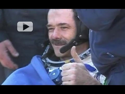 Astronaut Chris Hadfield & Crew Extracted From Soyuz Spacecraft | Video
