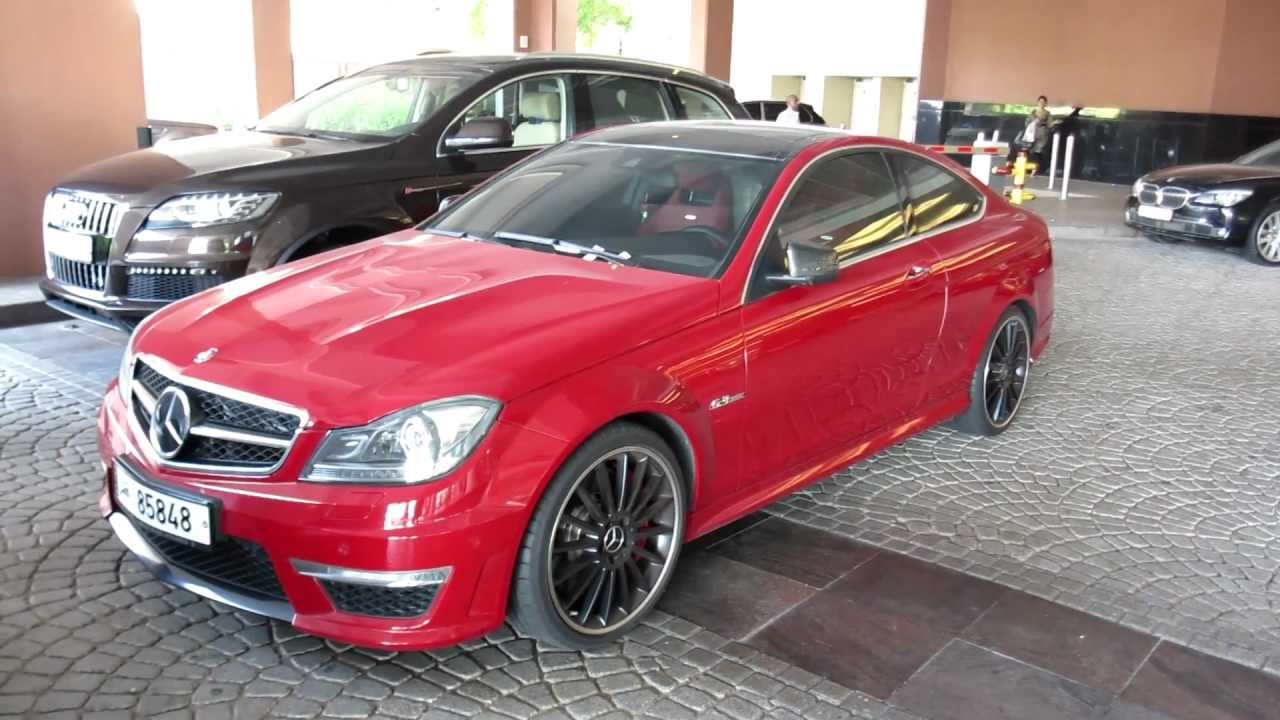 Red C63 Amg Coupe Mercedes Benz Qatar Plates Youtube