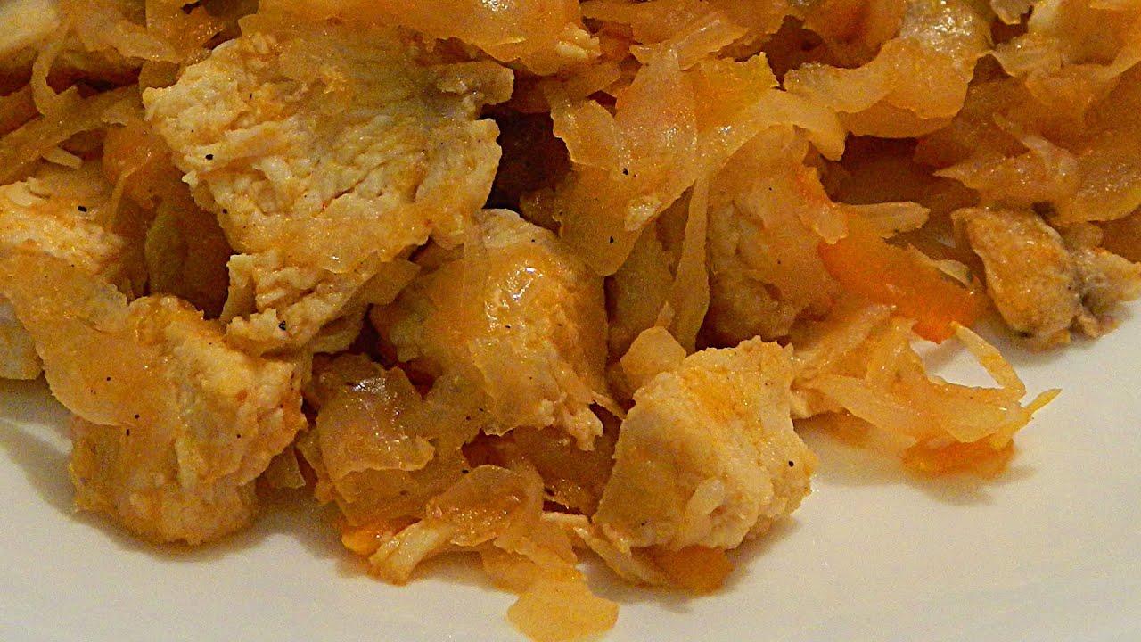 Тушеная капуста с курицей в мультиварке рецепты поларис