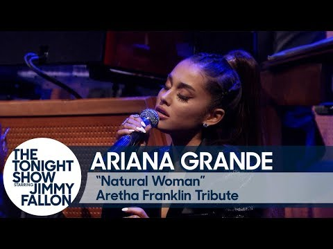 """Ariana Grande and The Roots Perform """"Natural Woman"""" in Tribute to Aretha Franklin"""