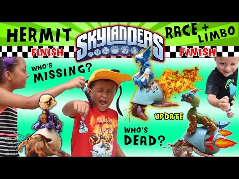 Hermit Crab Racing + Limbo + Funeral + Missing Poster Update (Skylanders Family Fun w/ Mega Bloks)