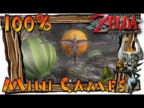 The Legend of Zelda Twilight Princess HD Wii U - All Mini Games (Guide & Rewards)