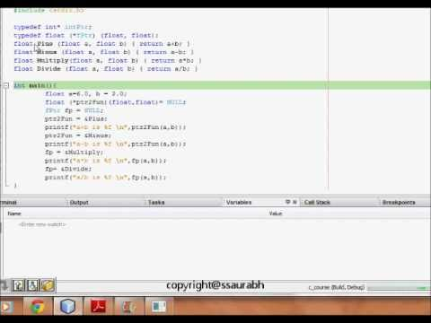C Programming: Function Pointers and Call Back Functions